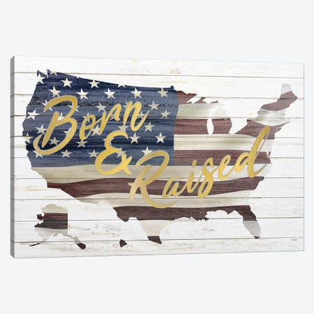 Born And Raised Canvas Print #KAL81} by Kimberly Allen Art Print