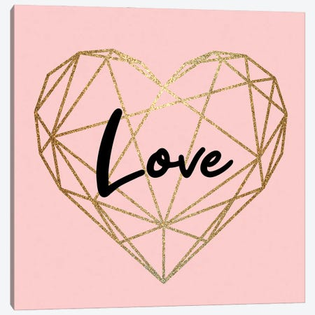 Love Heart Canvas Print #KAL843} by Kimberly Allen Canvas Artwork