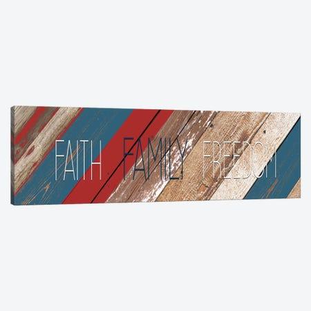 Faith Family Freedom Canvas Print #KAL84} by Kimberly Allen Canvas Art