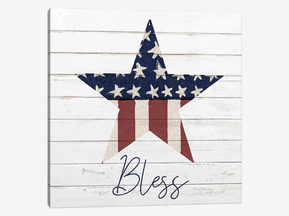 God Bless America II by Kimberly Allen 1-piece Canvas Print