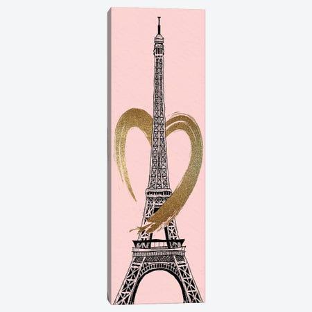 Paris Heart I Canvas Print #KAL885} by Kimberly Allen Canvas Print