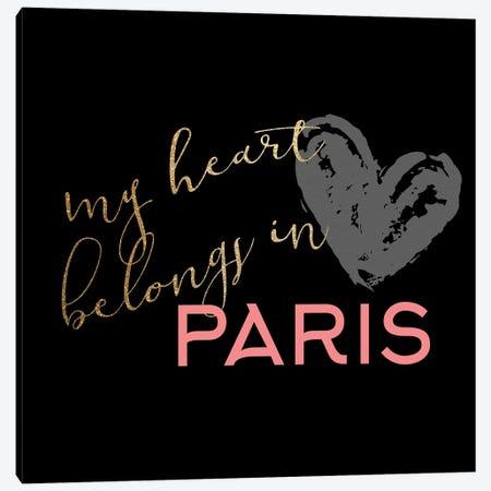 Paris Heart III Canvas Print #KAL887} by Kimberly Allen Art Print
