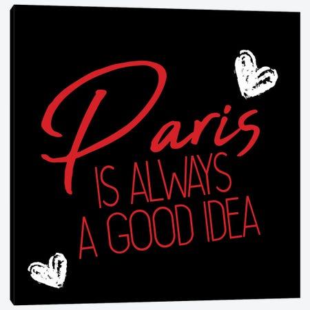 Paris Idea Love II Canvas Print #KAL889} by Kimberly Allen Canvas Art