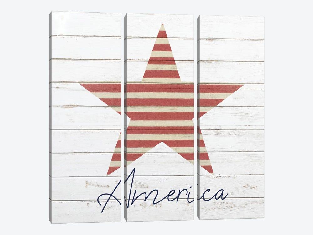 God Bless America III by Kimberly Allen 3-piece Canvas Wall Art