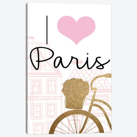Paris Streets III Canvas Print #KAL898} by Kimberly Allen Art Print