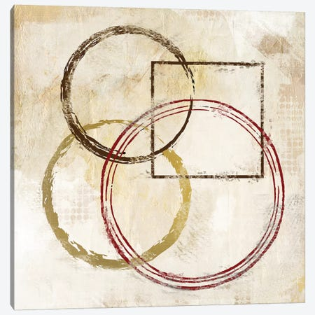 Circles And Squares II 3-Piece Canvas #KAL8} by Kimberly Allen Canvas Print