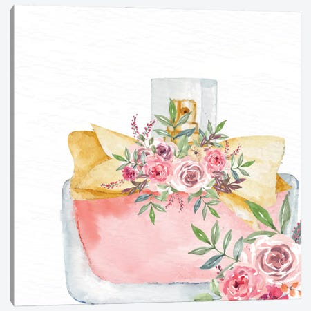 Pink Scent V Canvas Print #KAL915} by Kimberly Allen Art Print