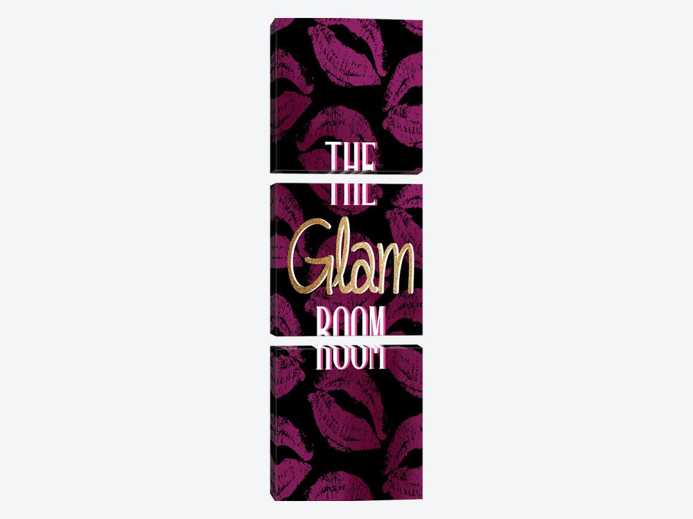 The Glam Room by Kimberly Allen 3-piece Canvas Wall Art