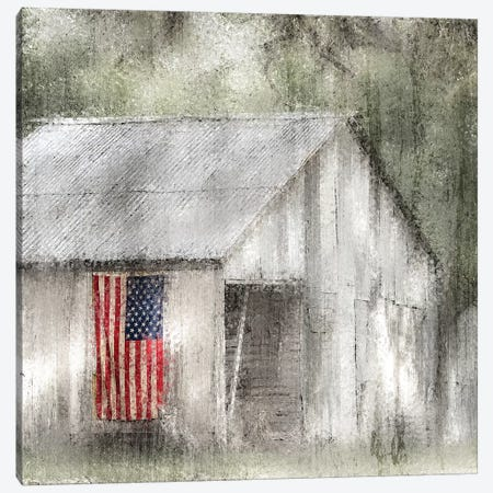 Old Glory Canvas Print #KAL97} by Kimberly Allen Art Print