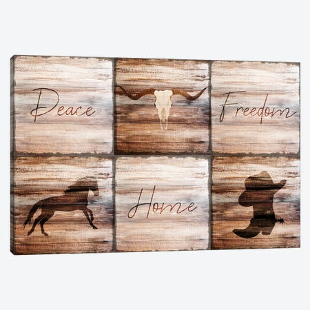 Peace Home Freedom Canvas Print #KAL98} by Kimberly Allen Canvas Wall Art