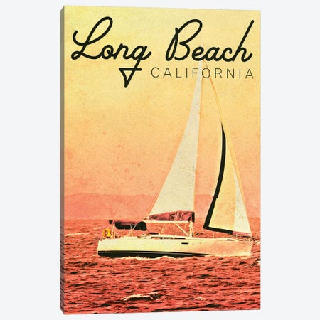 Long Beach, California Canvas Print #KAM11} by Kathy Mansfield Art Print