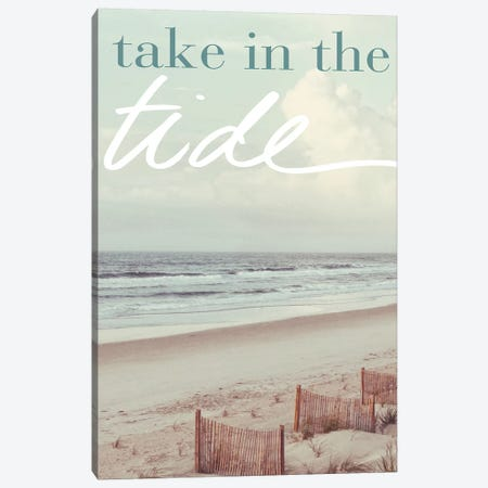 Take in the Tide Canvas Print #KAM16} by Kathy Mansfield Canvas Artwork