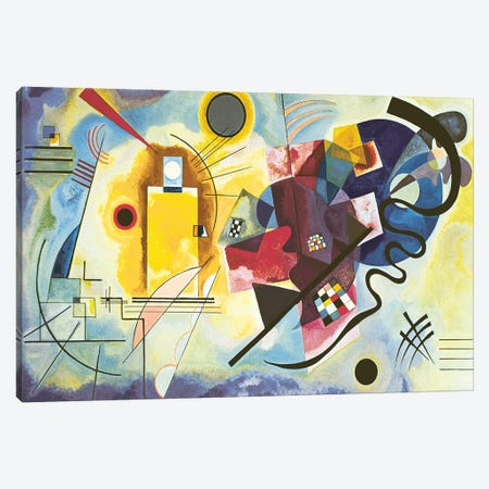 Gelb - Rot - Blau (Yellow-Red-Blue), 1925 Canvas Print #KAN1} by Wassily Kandinsky Canvas Print
