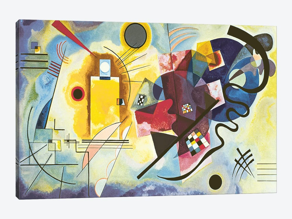 Little Painting with Yellow  by Wassily Kandinsky   Giclee Canvas Print Repro