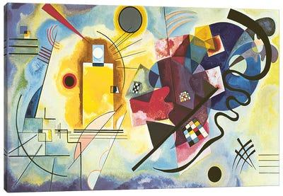 Gelb - Rot - Blau (Yellow-Red-Blue), 1925 Canvas Art Print