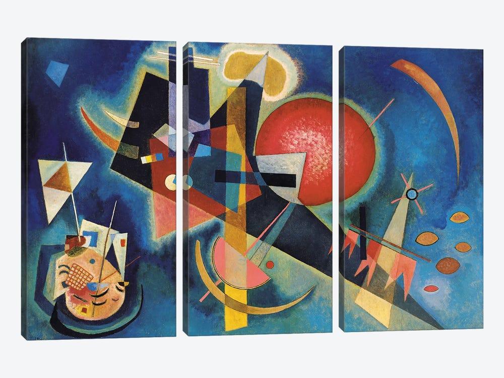 Im Blau by Wassily Kandinsky 3-piece Canvas Art Print