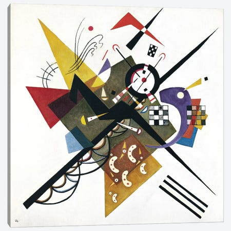 On White II, 1923 Canvas Print #KAN4} by Wassily Kandinsky Canvas Art