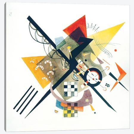 Study For On White II, 1922 Canvas Print #KAN5} by Wassily Kandinsky Canvas Artwork