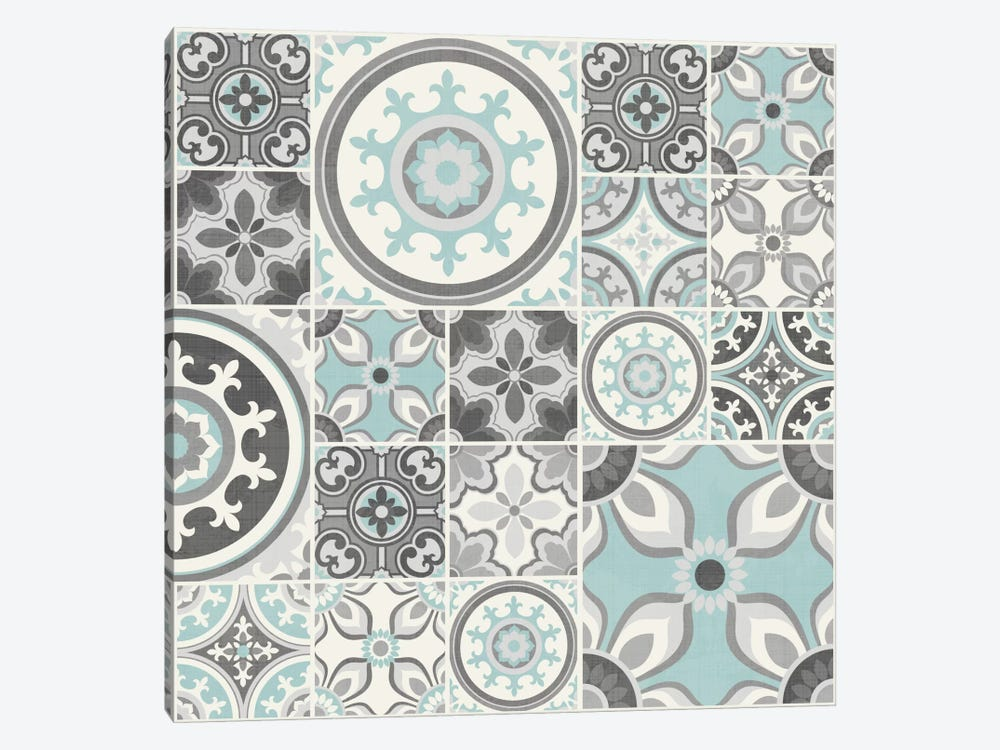 Suzanni Tile I by Diane Kappa 1-piece Canvas Wall Art