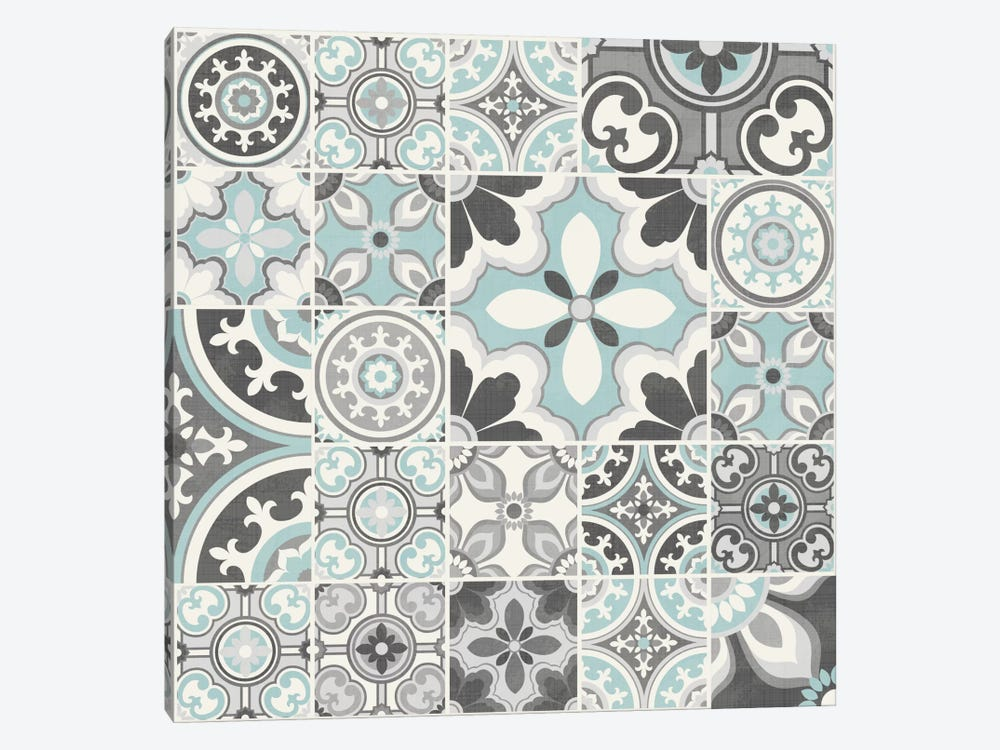 Suzanni Tile III by Diane Kappa 1-piece Canvas Wall Art