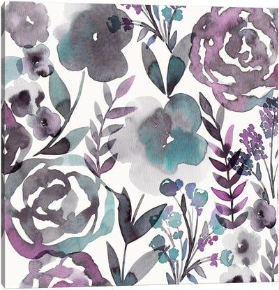 Blooming Plum Garden I Canvas Print #KAP1