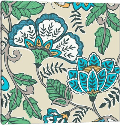 Namaste Floral I Canvas Print #KAP8