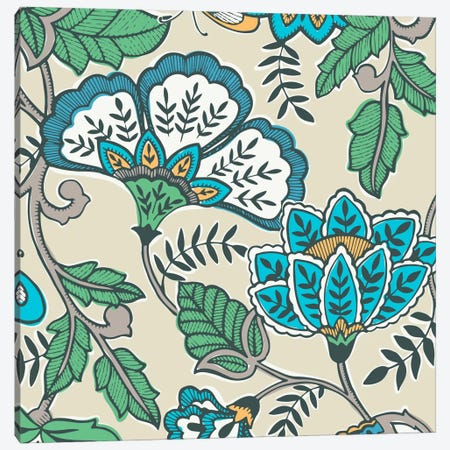 Namaste Floral I Canvas Print #KAP8} by Diane Kappa Canvas Artwork