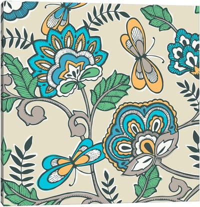 Namaste Floral II Canvas Print #KAP9