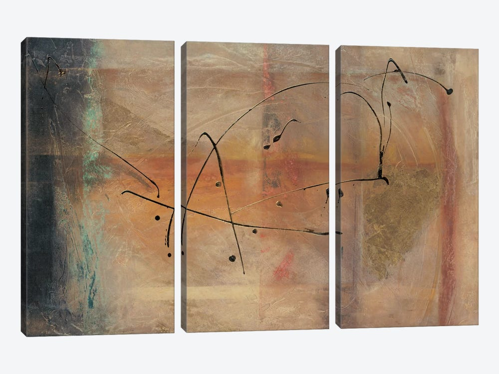 Cross Road I by Kati Roberts 3-piece Canvas Artwork