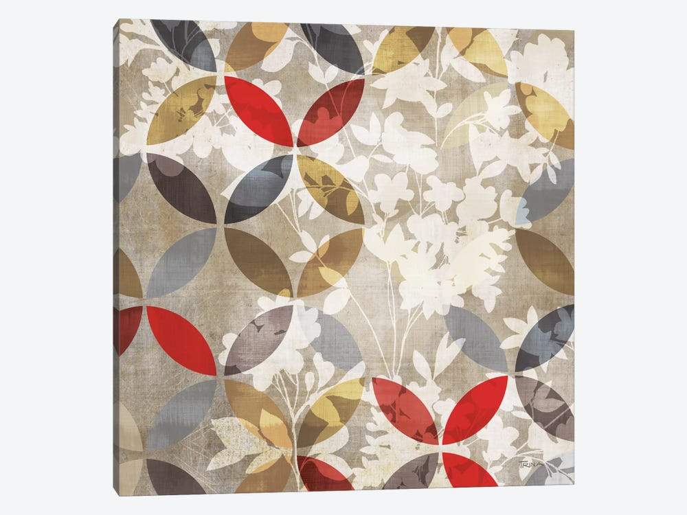 Golden Prism With Red I by Katrina Craven 1-piece Canvas Wall Art