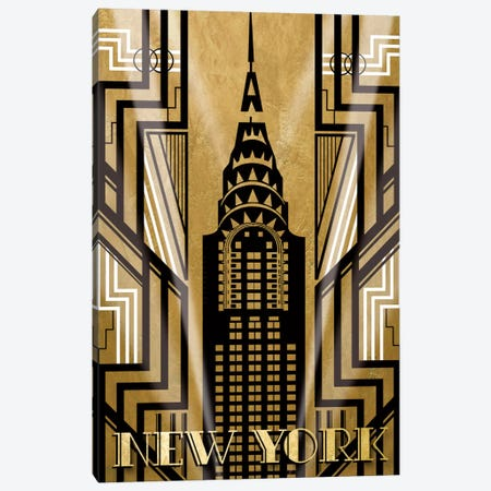 NY Deco Canvas Print #KAT14} by Katrina Craven Canvas Print