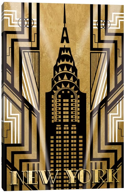 NY Deco Canvas Art Print