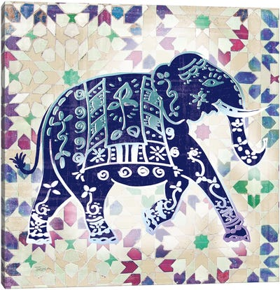 Painted Elephant I Canvas Art Print