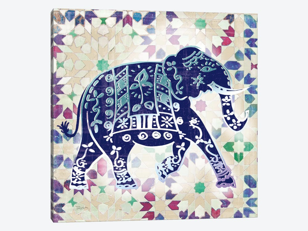 Painted Elephant I by Katrina Craven 1-piece Canvas Wall Art
