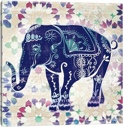 Painted Elephant II Canvas Print #KAT16