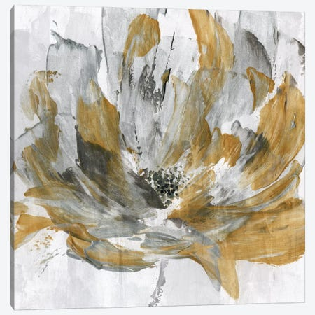 Golden Flower Power Canvas Print #KAT18} by Katrina Craven Canvas Artwork