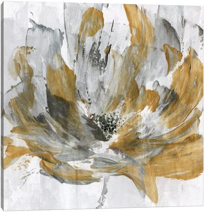 Golden Flower Power Canvas Art Print