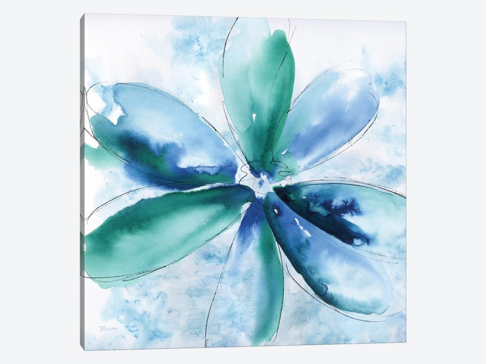 Be Bold Blue II by Katrina Craven 1-piece Canvas Artwork