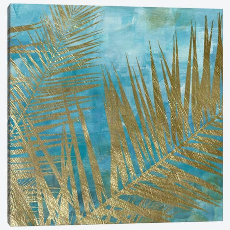 Golden Palm I Canvas Print #KAT29} by Katrina Craven Canvas Art Print