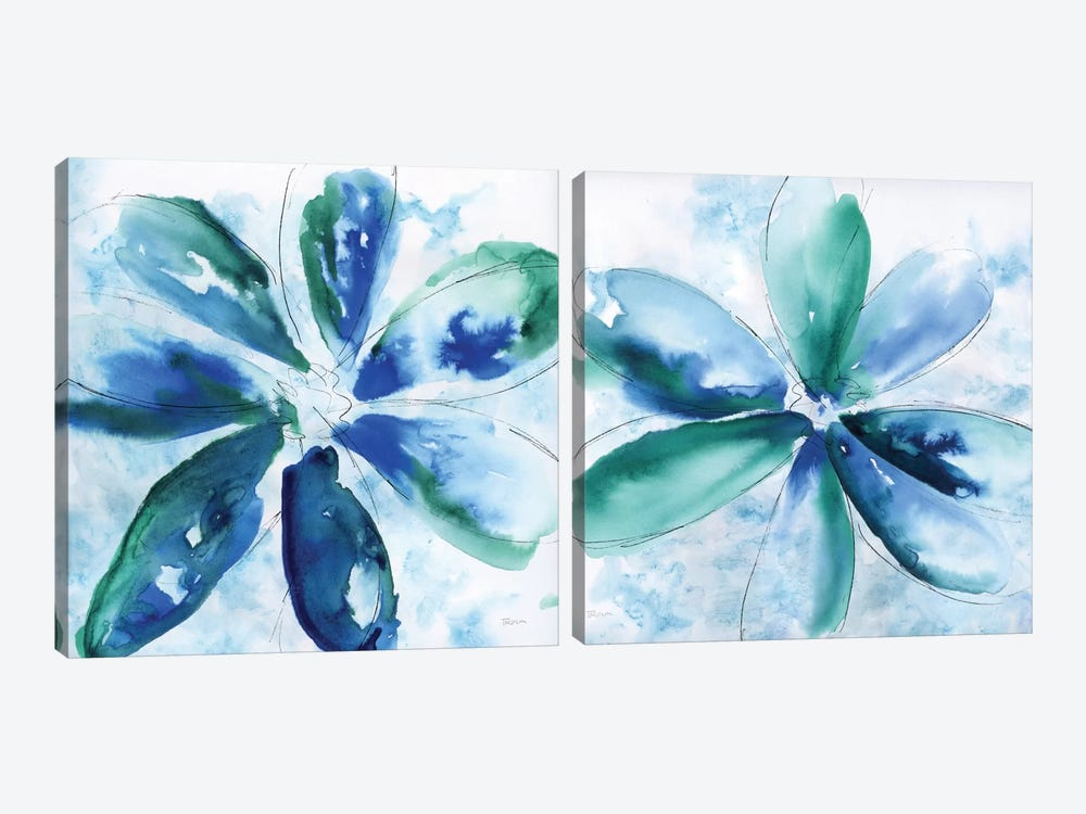 Be Bold Blue Diptych by Katrina Craven 2-piece Canvas Art