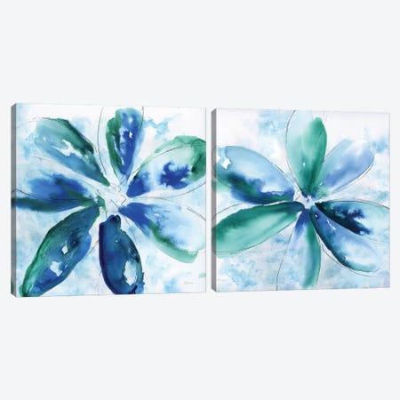 Be Bold Blue Diptych Canvas Print Set #KAT2HSET001} by Katrina Craven Canvas Artwork