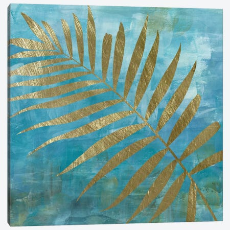 Golden Palm II Canvas Print #KAT30} by Katrina Craven Canvas Artwork