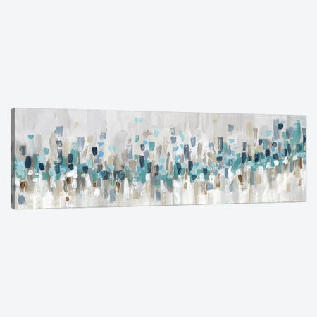 Blue Staccato Canvas Print #KAT37} by Katrina Craven Art Print