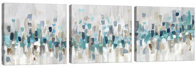 Blue Staccato Canvas Art Print