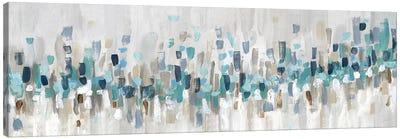Blue Staccato Canvas Art Print