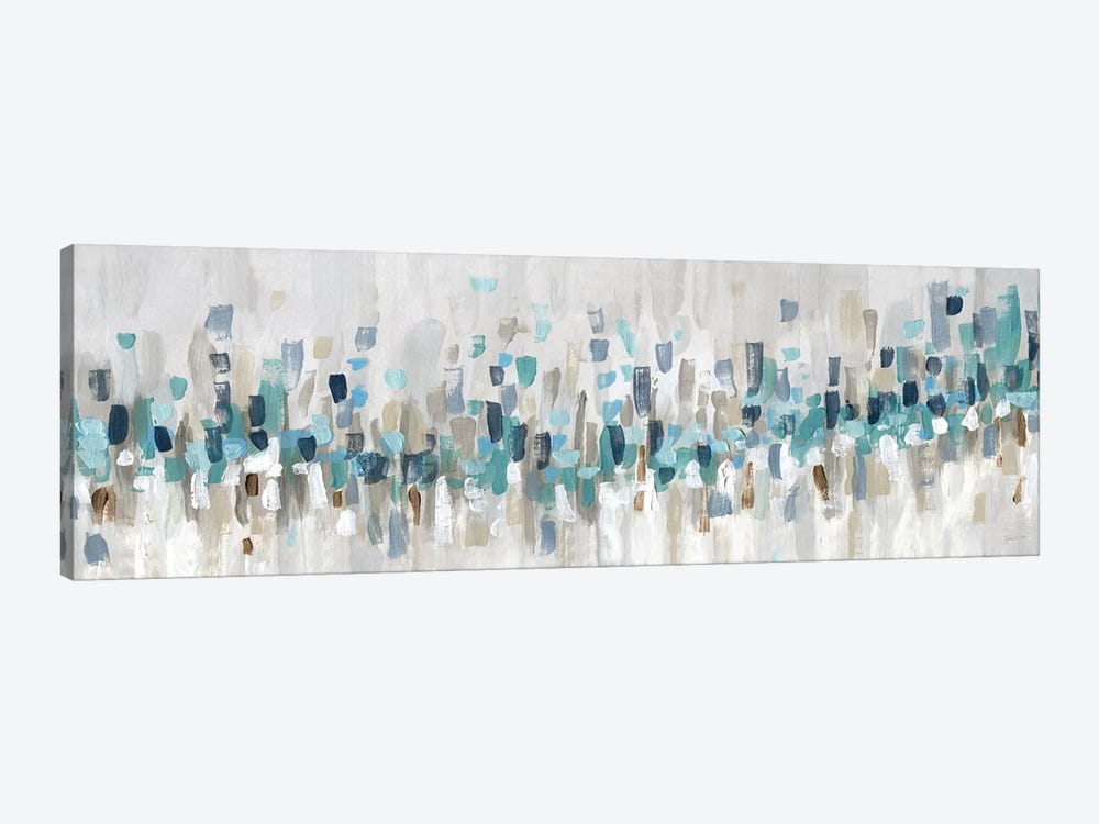 Blue Staccato by Katrina Craven 1-piece Canvas Wall Art