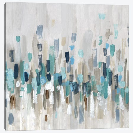 Staccato Blue I Canvas Print #KAT47} by Katrina Craven Canvas Art