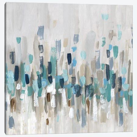 Staccato Blue I Canvas Print #KAT47} by Katrina Craven Canvas Art