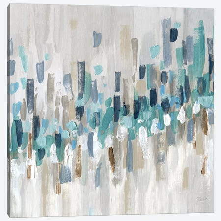 Staccato Blue II Canvas Print #KAT48} by Katrina Craven Canvas Print