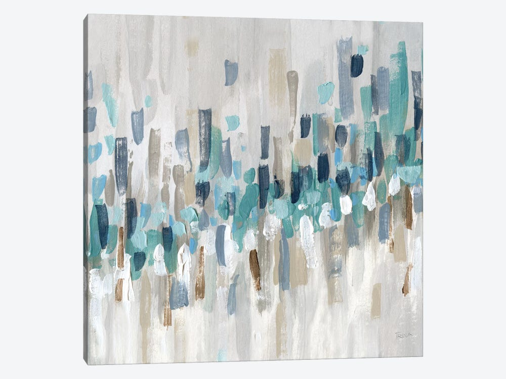 Staccato Blue II by Katrina Craven 1-piece Canvas Art